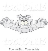 Vector Illustration of a Cartoon Bulldog Mascot Leaping Forward by Toons4Biz