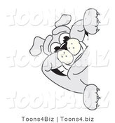 Vector Illustration of a Cartoon Bulldog Mascot Smiling Around a Blank Sign by Toons4Biz