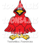 Vector Illustration of a Cartoon Cardinal Mascot by Toons4Biz