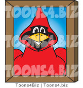 Vector Illustration of a Cartoon Cardinal Mascot Portrait by Toons4Biz