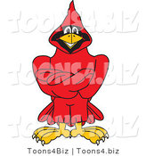 Vector Illustration of a Cartoon Cardinal Mascot with Crossed Arms by Toons4Biz