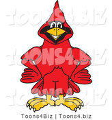 Vector Illustration of a Cartoon Cardinal Mascot with His Hands on His Hips by Toons4Biz