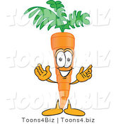 Vector Illustration of a Cartoon Carrot Mascot Greeting with Open Arms by Toons4Biz