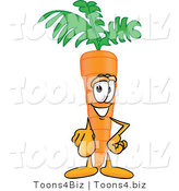 Vector Illustration of a Cartoon Carrot Mascot Pointing Outwards at the Viewer by Toons4Biz