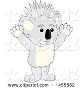 Vector Illustration of a Cartoon Cheering Koala Bear Mascot with a Mohawk by Toons4Biz