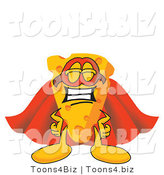 Vector Illustration of a Cartoon Cheese Mascot in a Super Hero Cape and Mask by Toons4Biz