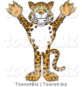 Vector Illustration of a Cartoon Cheetah, Jaguar or Leopard Mascot by Toons4Biz