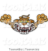 Vector Illustration of a Cartoon Cheetah Mascot Lurching Forward by Toons4Biz