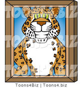 Vector Illustration of a Cartoon Cheetah Mascot Portrait by Toons4Biz