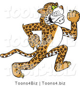 Vector Illustration of a Cartoon Cheetah Mascot Running by Toons4Biz