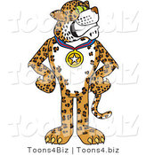 Vector Illustration of a Cartoon Cheetah Mascot Wearing a Medal by Toons4Biz