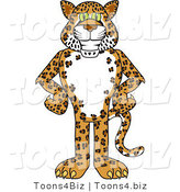 Vector Illustration of a Cartoon Cheetah Mascot with His Hands on His Hips by Toons4Biz