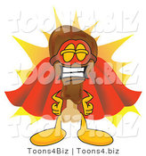 Vector Illustration of a Cartoon Chicken Drumstick Mascot Super Hero Mascot by Toons4Biz