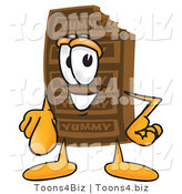 Vector Illustration of a Cartoon Chocolate Mascot Pointing at the Viewer by Toons4Biz
