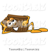 Vector Illustration of a Cartoon Chocolate Mascot Resting His Head on His Hand by Toons4Biz