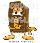 Vector Illustration of a Cartoon Chocolate Mascot Whispering and Gossiping by Toons4Biz