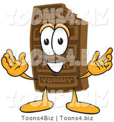 Vector Illustration of a Cartoon Chocolate Mascot with Welcoming Open Arms by Toons4Biz