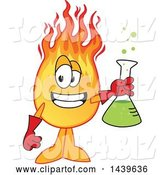Vector Illustration of a Cartoon Comet Mascot Holding a Science Flask by Toons4Biz