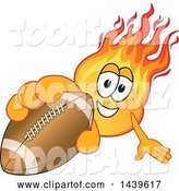 Vector Illustration of a Cartoon Comet Mascot Holding out a Football by Toons4Biz