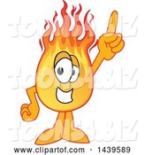 Vector Illustration of a Cartoon Comet Mascot Holding up a Finger by Toons4Biz