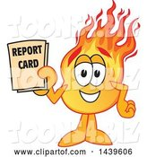 Vector Illustration of a Cartoon Comet Mascot Student Holding a Report Card by Toons4Biz