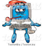 Vector Illustration of a Cartoon Computer Mascot by Toons4Biz