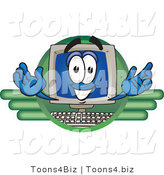 Vector Illustration of a Cartoon Computer Mascot Logo by Toons4Biz