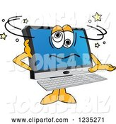 Vector Illustration of a Cartoon Confused PC Computer Mascot by Toons4Biz