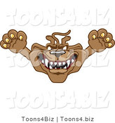 Vector Illustration of a Cartoon Cougar Mascot Character Leaping Outwards by Toons4Biz