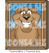 Vector Illustration of a Cartoon Cougar Mascot Character Portrait by Toons4Biz