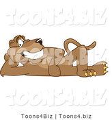 Vector Illustration of a Cartoon Cougar Mascot Character Reclined by Toons4Biz