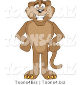 Vector Illustration of a Cartoon Cougar Mascot Character with His Hands on His Hips by Toons4Biz