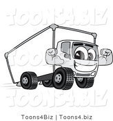 Vector Illustration of a Cartoon Delivery Truck Mascot Flexing by Toons4Biz