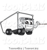 Vector Illustration of a Cartoon Delivery Truck Mascot Holding a Pointer Stick by Toons4Biz