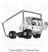 Vector Illustration of a Cartoon Delivery Truck Mascot Running by Toons4Biz