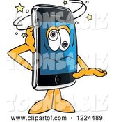 Vector Illustration of a Cartoon Dizzy Smart Phone Mascot by Toons4Biz