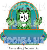 Vector Illustration of a Cartoon Dollar Bill Mascot on a Blank Label by Toons4Biz