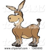 Vector Illustration of a Cartoon Donkey Mascot Character by Toons4Biz
