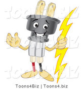 Vector Illustration of a Cartoon Electric Plug Mascot by Toons4Biz