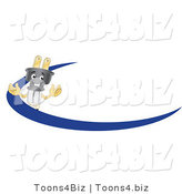 Vector Illustration of a Cartoon Electric Plug Mascot Logo with a Blue Dash by Toons4Biz