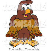 Vector Illustration of a Cartoon Falcon Mascot Character by Toons4Biz