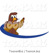 Vector Illustration of a Cartoon Falcon Mascot Character Dash Logo by Toons4Biz