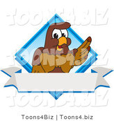 Vector Illustration of a Cartoon Falcon Mascot Character Diamond Logo by Toons4Biz