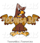 Vector Illustration of a Cartoon Falcon Mascot Character Flexing by Toons4Biz