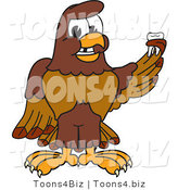Vector Illustration of a Cartoon Falcon Mascot Character Holding a Missing Tooth by Toons4Biz