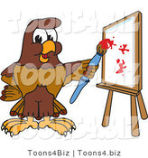Vector Illustration of a Cartoon Falcon Mascot Character Painting by Toons4Biz