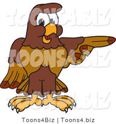 Vector Illustration of a Cartoon Falcon Mascot Character Pointing Right by Toons4Biz