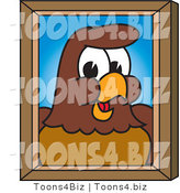 Vector Illustration of a Cartoon Falcon Mascot Character Portrait by Toons4Biz