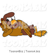 Vector Illustration of a Cartoon Falcon Mascot Character Reclined by Toons4Biz