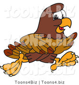 Vector Illustration of a Cartoon Falcon Mascot Character Running by Toons4Biz